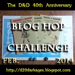 D&D 40th Anniversay Blog Hop Challenge