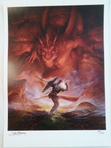 I bought a cool Jeff Easley print and he signed. 28/1500.