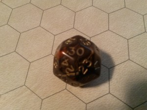 Chessex D30 On Hex Side Battle Mat