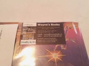 Wayne Includes Business Card With Notes Of Your Order