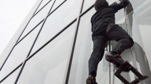 Climbing Glass Wall