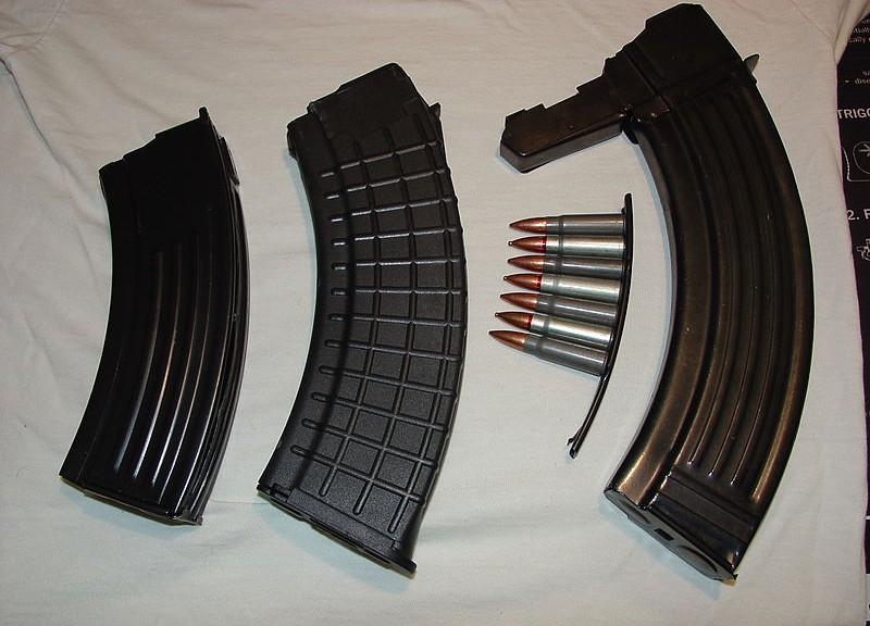 7.62x39mm Stripper Clip & 3 Magazines