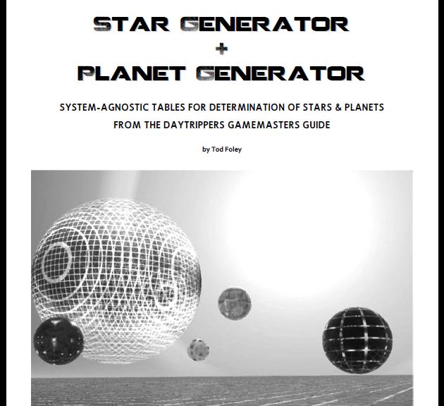 Star & Planet Generator