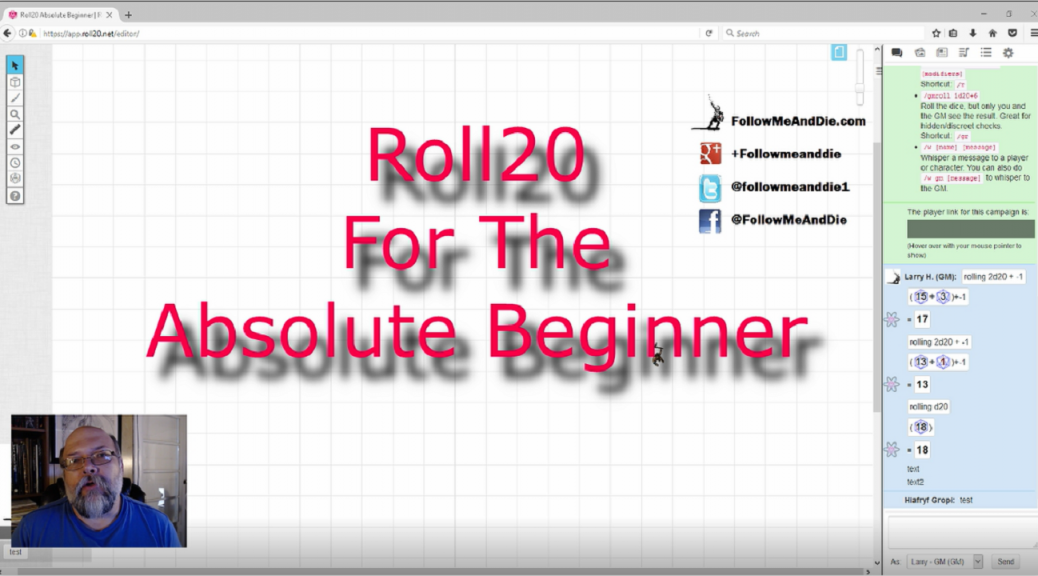 Roll20 For The Absolute Beginner-Series
