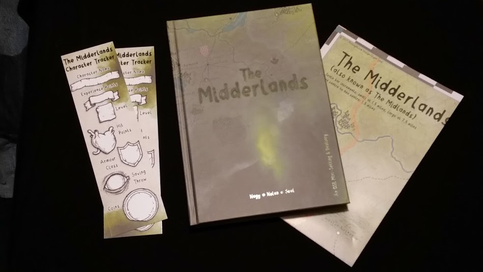 Midderlands: Book, Map, and Bookmarks