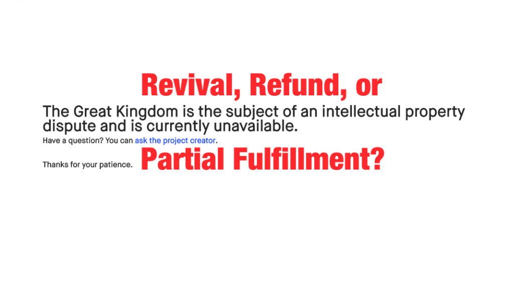 Revival Refund Or Partial Fulfillment